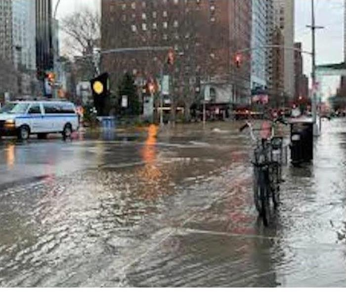 Flooded Chicago street